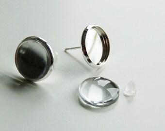 Earrings disc 1 pair (A 534)