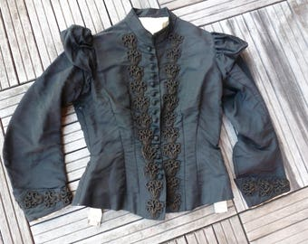 bodice antique victorian 1900s French satin
