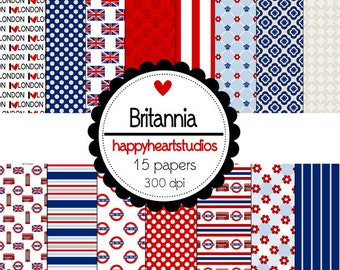 Digital Scrapbook Britannia-INSTANT DOWNLOAD