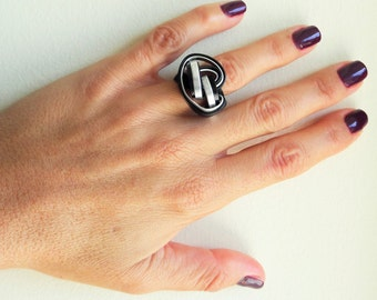 Ring, Aluminum ring, Bohemian ring, Minimalist ring, Handmade,  Wrapped ring, Ethnic jewelry, Aluminum wire, Made in Greece