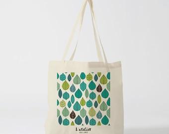 Bag X74Y leaf bread bag, shopping bag, shopping bag, cotton tote bag, Tote, beach bag, bag and luggage bags
