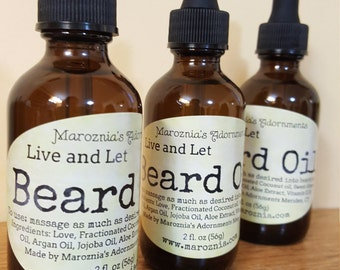 Beard Oil Live and Let Beard Oil