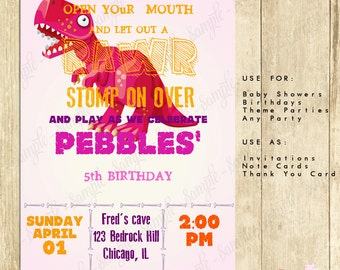 Dinosaur Birthday Party Invitation Dino Birthday Party