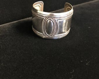 Wide Sterling Silver Bangle