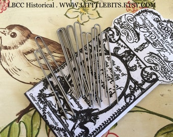 "Long 2.5"" Steel Hair Pins For Historical Hair Styling"