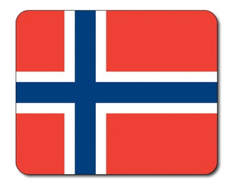 Norwegian Flag Mouse Mat Mouse Pad