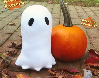 Halloween Ghost Plushie PDF Sewing Pattern