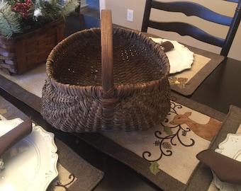 Primitive Antique Buttocks Basket, 1900-1909's........