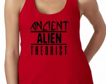 Ancient Aliens Tank Top / Womens Ancient Aliens / Ancient Aliens / Ancient Astronuat / Annunaki / Ancient Egypt / UFO Shirt /