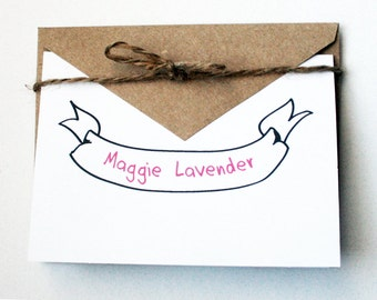 Personalized Stationery -- The Maggie -- Set of Cards & Envelopes- CHOOSE your QUANTITY