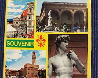Set of 25 vintage Italy postcards all packaged in a fold out booklet. Each picture comes with a description in several languages incl.