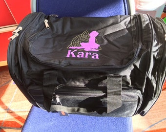Embroidered Irish Dance Duffle bag, Personalized with name