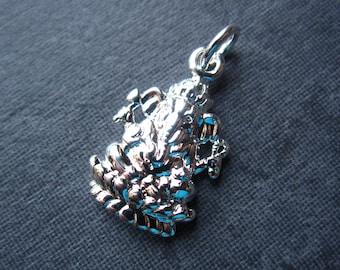 Silver Plated Ganesh Charm