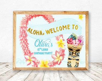 Luau Party Favors, Luau Party Decorations, Luau Party Pack, Luau Party Printables, Hawaiian Party Favors, Hawaiian Party Printables,  Aloha