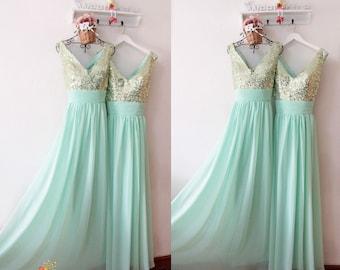 Vintage Mint Green Bridesmaid Dresses