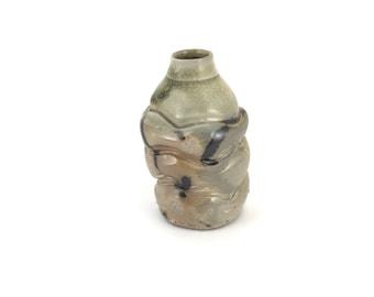 Wood fired bud vase