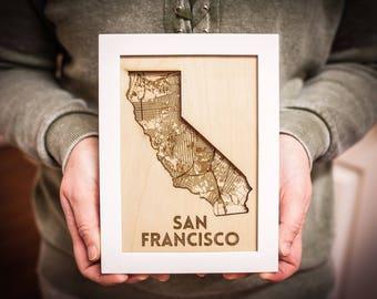 State & City Framed Art