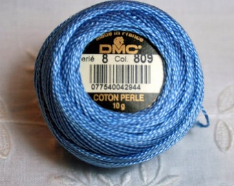 DMC Pearl / Perle Cotton Thread Balls Size 8 Delft Blue 809