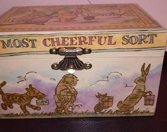 Classic Winnie the Pooh Linden Music Trinket Wind Up Jewelry Box