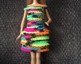 Fiesta doll dress Barbie crochet