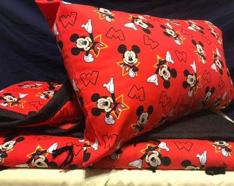 Mickey Children's Quilt with denim back.