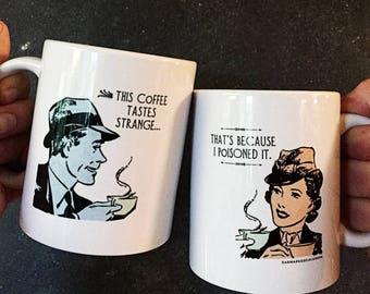 Witty Cold Coffee Mug, FREE Shipping US, humor gift, sassy mug, funny mug, boss gift, coworker gift, friend gift, coffee craver, under 20