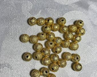 Golden Stardust 8mm beads