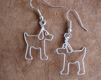 PUPPY DOGS earrings wirework nickle-free