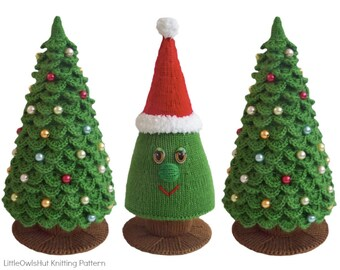 009 knitting branches are crochet pattern christmas tree new year pattern amigurumi by zabelina etsy - Christmas Tree Decorated With Owls