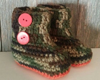 Crochet Camo Ugg Boots - Camo Ugg Boots - Camo Ugg Booties - Camouflage