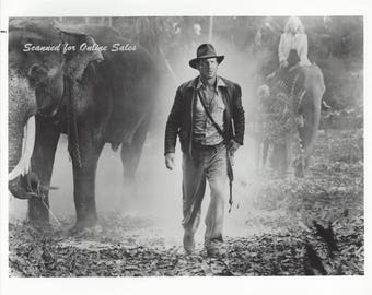 Indiana Jones Kate Capshaw Harrison Ford Elephants Temple of Doom 8x10 Photo