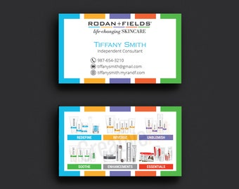 Rodan and Fields Business Cards, Fast Personalized, Rodan + Fields Independent Consultant, Modern Business Cards RF14