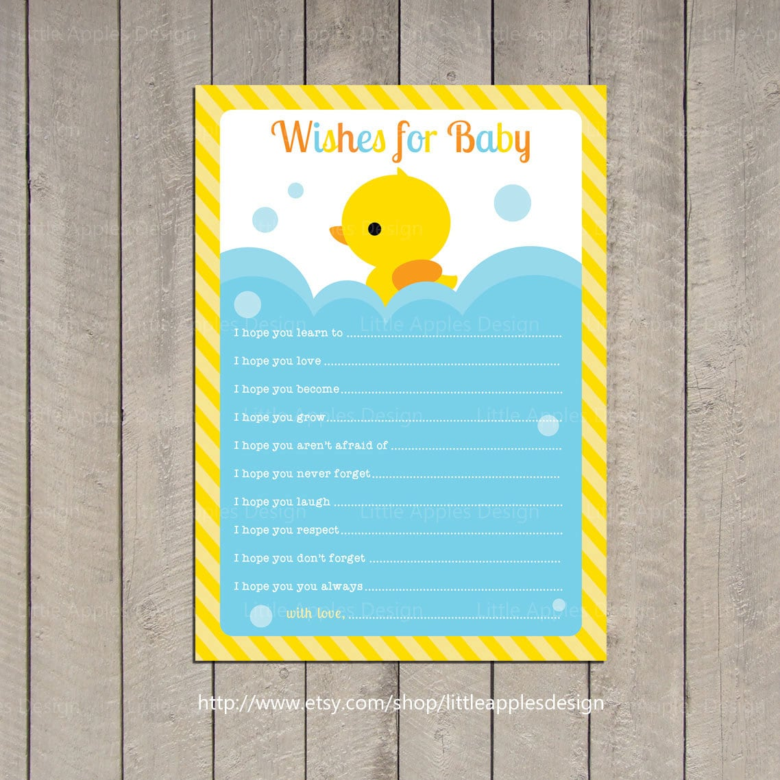 Wishes for Baby / Rubber Duck Wishes for Baby / Rubber Duck