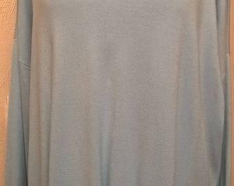 Sky blue long sleeves tunic sweater