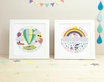 Nursery decor // Nursery art // Kids room decor // kids wall art // Kids Print Set // Kids Prints // Children's Wall Art // Inspirational