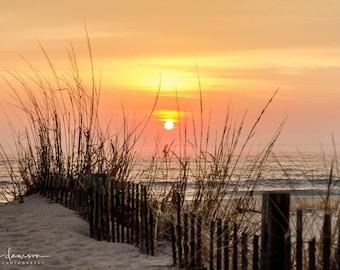 Sunrise Photo Print, Beach Wall Art Decor, Surf Photography, Ocean Landscape