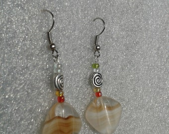 Caramel kissed - glass earrings