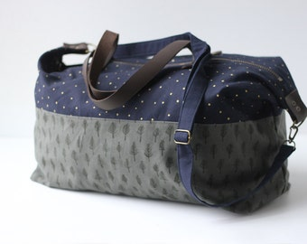 Trees & Stars Weekender Bag. Shoulder Bag. Canvas Bag. Tote. Across body bag. Weekend Bag. Gym Bag. Duffel Bag. Overnight Bag. Carry on Bag.