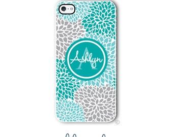 Floral Phone Case Monogram iPhone 6 Case iPhone 6s Case Samsung Galaxy S5 S6 Case iPhone 5 Case iPhone 6 Plus Case iPhone 5c Case Style 298a