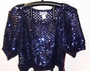 Cropped Slouchy Sequin Top