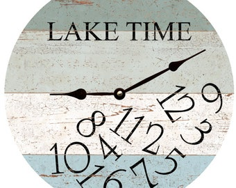 LAKE TIME Clock- Four Color Whatever Lake Time Clock