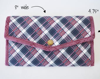 womens wallet. Slim clutch Phone wallet Bifold Clutch wallet Vegan purse Travel gift for her. Passport wallet. Mothers day gift Gift for mom