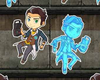 Handsome Jack Laminated Keychain - Borderlands 2, Tales From The Borderlands