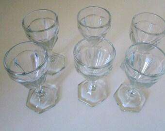 Antique Soda Fountain Glasses Parfait 1930s Soda Shop Tiny Set of 6