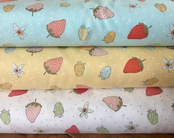 Bundle Strawberry tea - Michael Miller 100% cotton - designer fabric