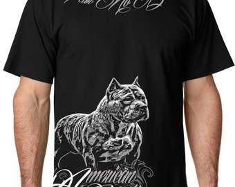 Fear No Bully Mens Pit Bull Shirt American Bully Tshirt for men in sizes small through 5x