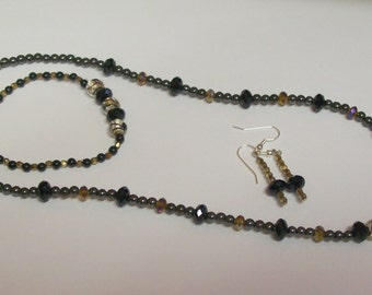 Sell It Now Sale ... 45 percent off ... Hemalyke (manmade) Magnetic beads, Necklace with matching Bracelet and Earrings ... Jewelry Set