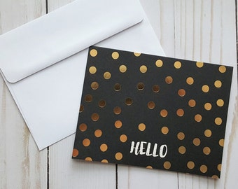 Thinking of You Card, Hello Card, Just Because Card, Encouragement Card, I Love You Card, Gold Foil Card, Any Occasion Card