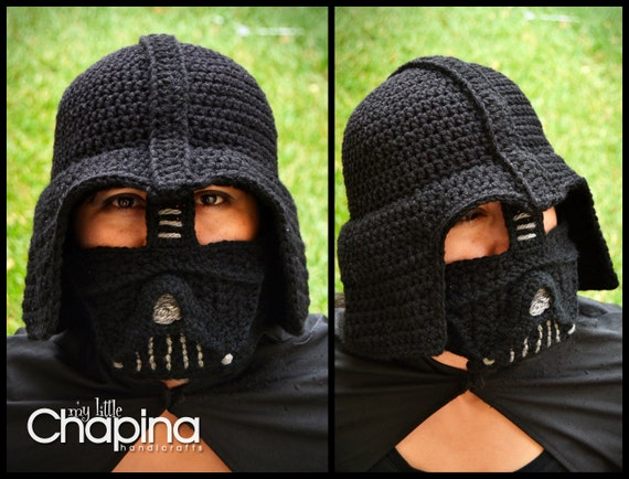 Pattern Darth Vader Adult Size Crochet Hat Not The Physical Hat