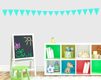 Flag Banner -  Nursery and Kid's Room Shapes Wall Decals